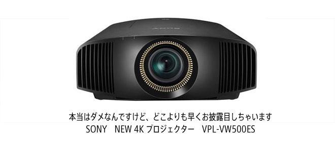 image SONY NEW 4K プロジェクター VPL-VW500ES