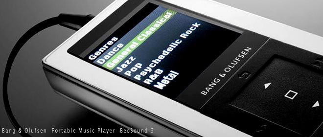 Bang&Olufsenがお届けするポータブルミュージックプレーヤー BeoSound 6